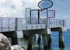 The new pier at South Pointe Park in South Beach opened in mid August. The original pier was closed in 2004.